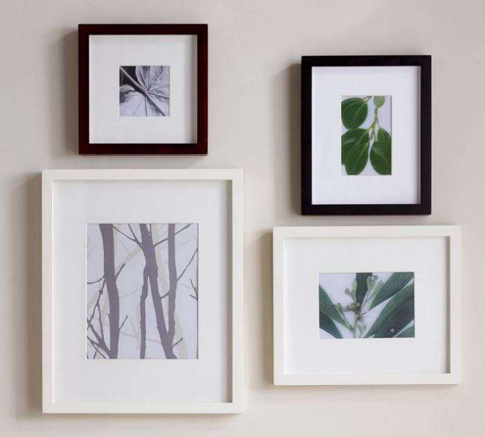 above made of solid hardwood the wood gallery single opening frames from pottery barn are available in black or white with a white mat or in espresso