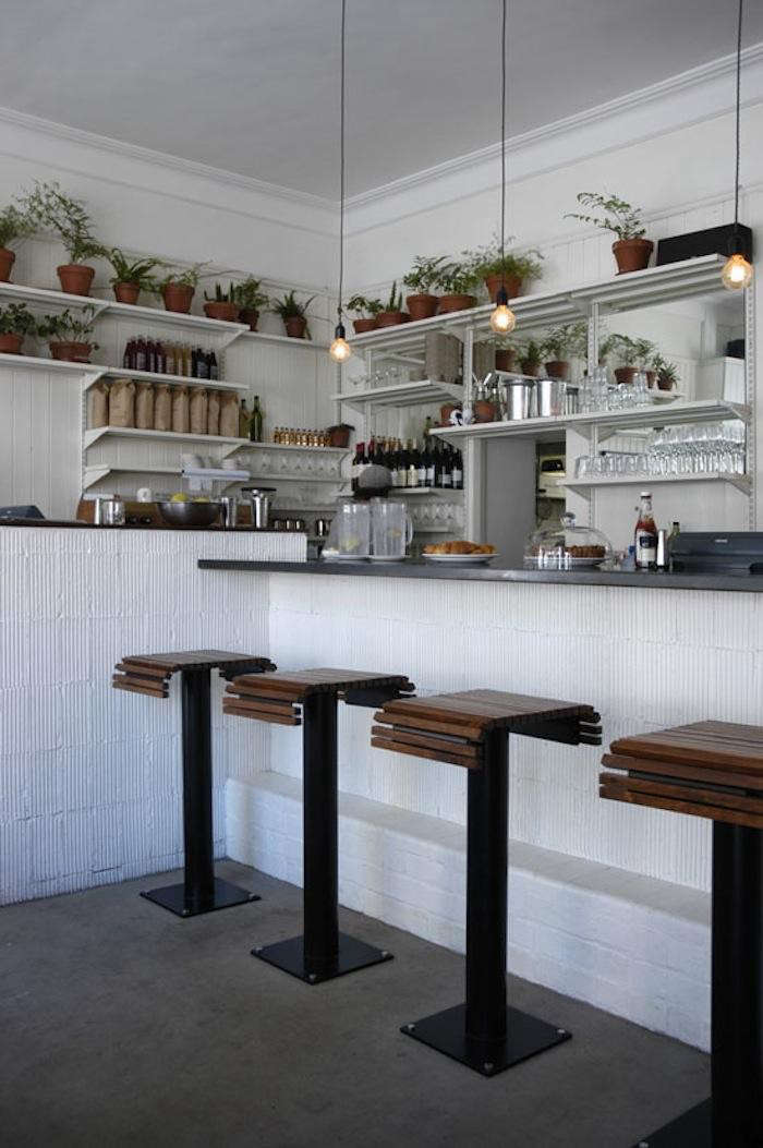 Stripped down in cape town clarke 39 s bar and dining room for Kitchen stools cape town