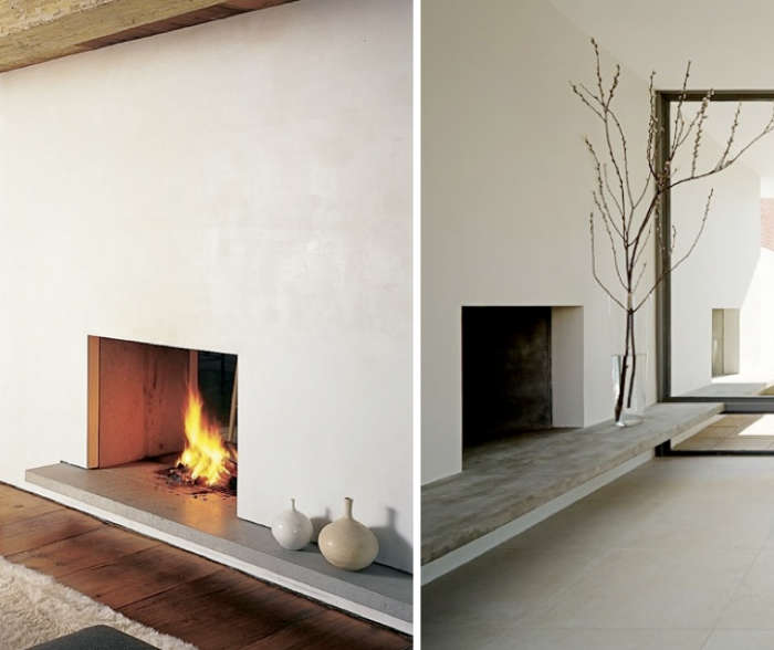 10 Favorites: Minimalist Fireplaces from Members of the ...