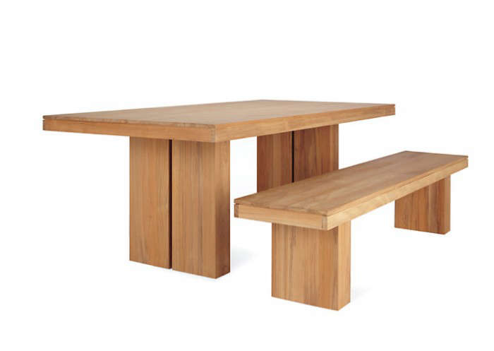 10 Easy Pieces Simple Wooden Outdoor Dining Tables