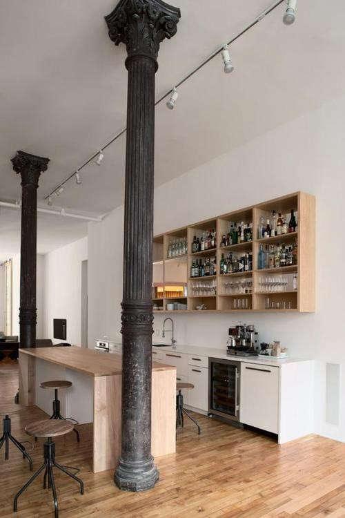 modern-loft-kitchen-black-columns