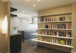 Floating_bookshelves_wrap_around_San_Francisco_Marnie_Wright_Design