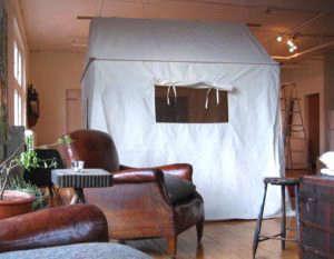 Canvas tent as instant guest bedroom, Sally Scott, Remodelista