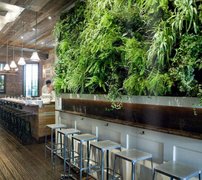 Green Kitchen Diner: A Green Wall Grows In Brooklyn: Colonie Restaurant: Remodelista
