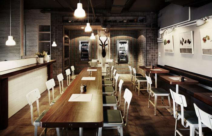 Industrial chic in melbourne the outpost dining room for Design industry melbourne