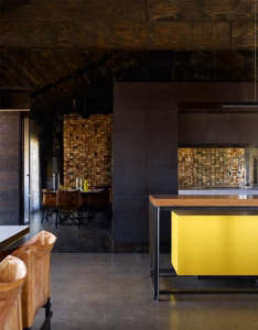 Hill-Plain-House-Wolveridge-Associates-Victoria-Australia-kitchen-bright-yellow
