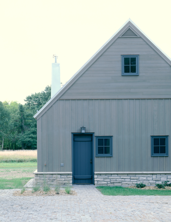 The architect is in a utility barn as architectural for Architectural siding