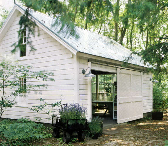 Steal This Look: Garage As Potting Shed: Remodelista