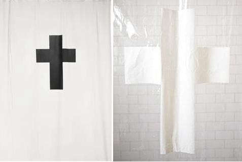 black-white-cross-shower-curtain