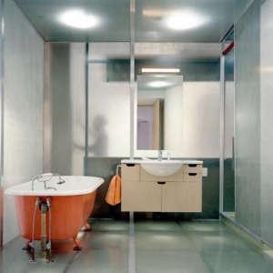 MESH Architectures, loft bathroom, New York loft