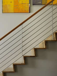 DeForest-Architects-Lake-Wenatchee-stair-rail-red-oak-metal-rails