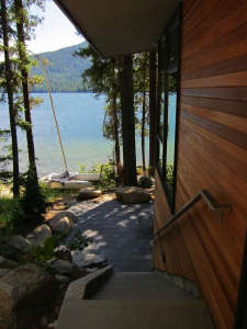 DeForest-Architects-Lake-Wenatchee-view-down-stairs-to-lake