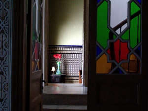Nord-Pinus-Tanger-Anne-Igou-Fez-tiles-colored-glass-stair-hall