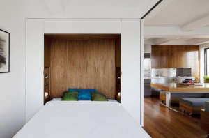 Transformer-Apartment-Studio-Garneau-wood-floors-white-walls-murphy-bed