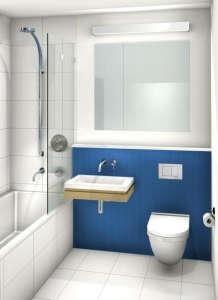 Uniform-Design-Minimalist-bathroomrendering-blue-horizontal-tiles