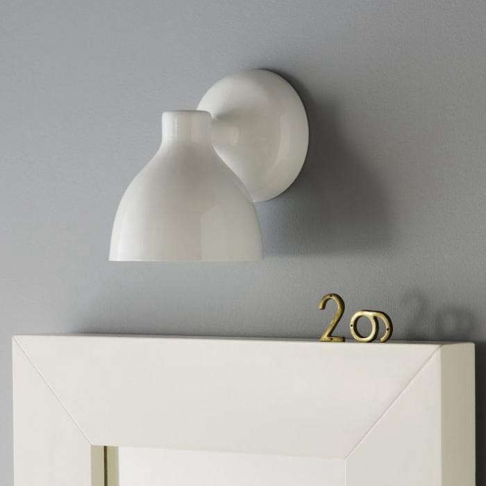 High/Low White Wall Sconce: Remodelista