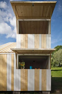 Anna and Eugeni Bach, Wood Playhouse with Finnish construction, Remodelista
