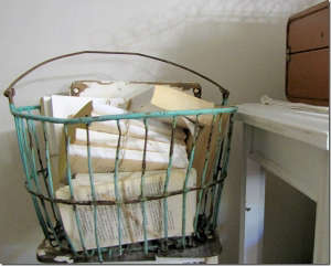 antique egg basket via All things Home