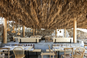 Alemàgou-Bar-Restaurant-Mykonos-reed-thatch-canopy-pumpkin-gourd-lighting-K-Studio