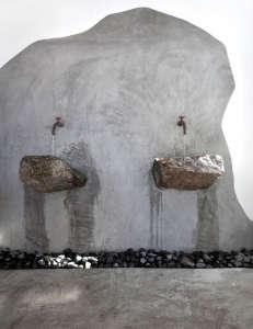 Alemàgou-Bar-Restaurant-Mykonos-K-Studio-stone-sinks