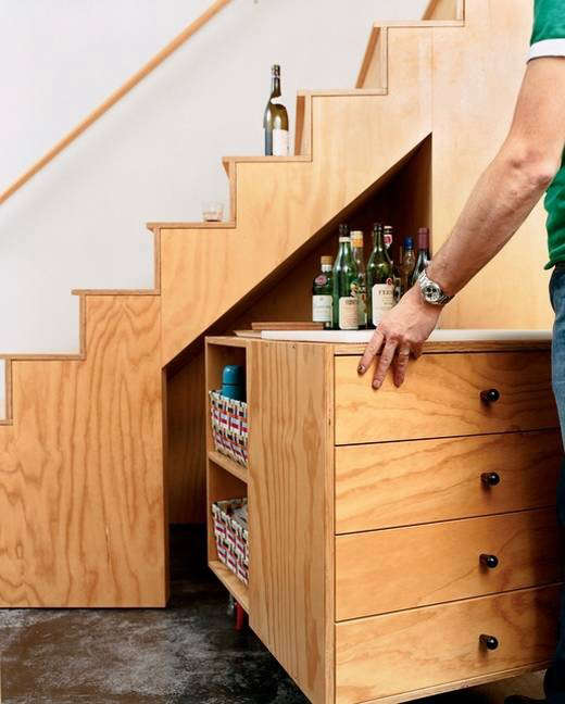 bar-cart-under-stairs