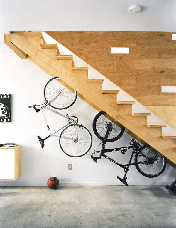 bikes-under-the-stairs