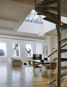 Messana-O'Rorke-Tank-House-New-York-water-tank-urban-tree-house-apartment-custom-stainless-steel-staircase