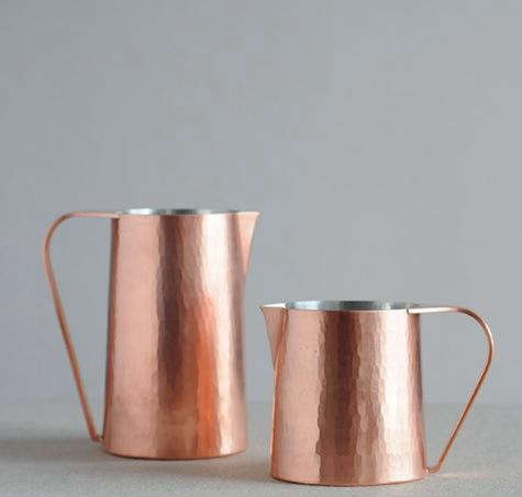 Hammered-copper-pitcher