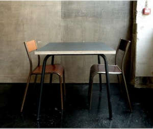 Mid-century kitchen table and chairs, Erwan Lévêque and Alphonse Sarthout, Ciguë SARL d'Architecture, Remodelista