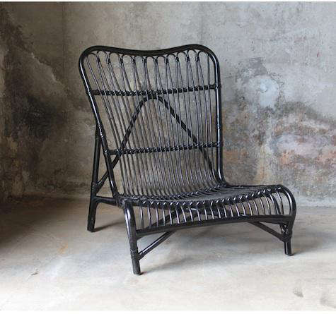 Furniture High Low Black Rattan Chair Remodelista