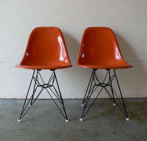 orange-pair-eames-chairs