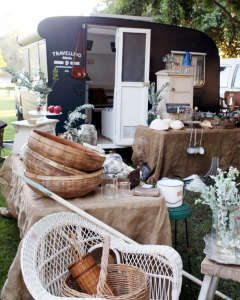 Travelling Wares by Kara Rosenlund: exterior with more wares on tables