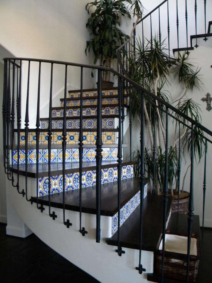 9 Spanish Style Tiled Stair Risers Remodelista