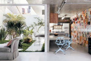 Luiz-Felipe-Andrade-reinforced-concrete-house-outdoor-courtyard-palm-trees