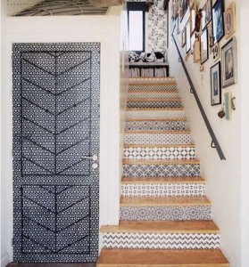 Marrakesh Stairway, Spanish Style Tiled Stair Risers, Remodelista