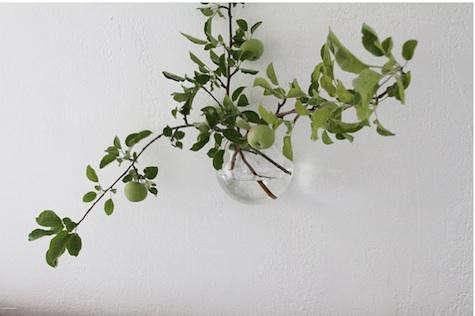glass-wall-vase-apple-blossom