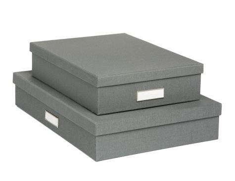grey-linen-library-storage-boxes