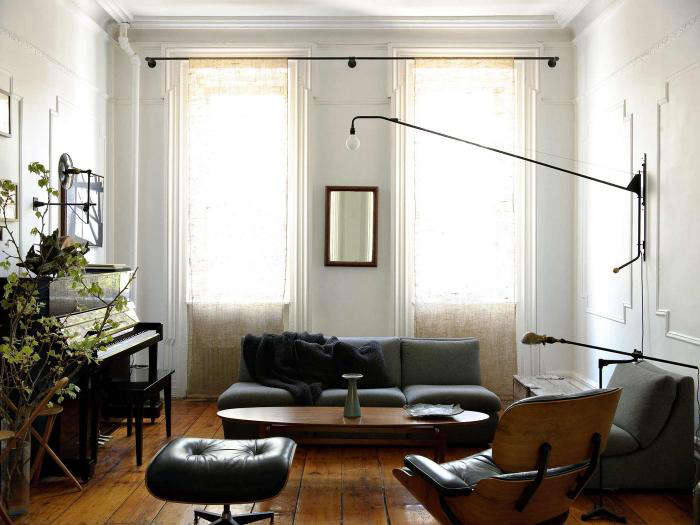 High low the iconic potence lamp by jean prouve remodelista for Living room west 6 brooklyn