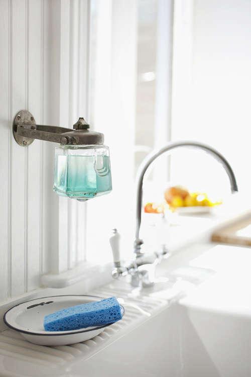 Dishwashing Liquid Dispenser ~ Design sleuth vintage soap dispenser as dish holder