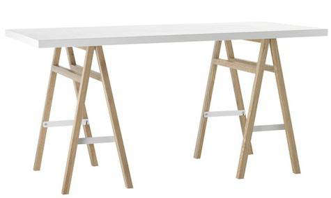 Furniture Collapsible Sawhorse Table And Folding Chairs