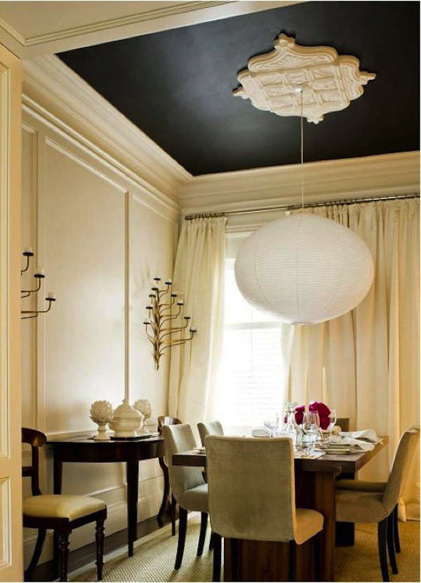 painted-black-ceiling-yellow-interior
