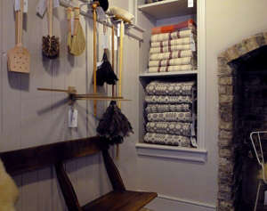 Objects of Use Welsh blankets and brooms