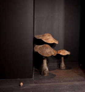 Hotel La Maison Champs-Elysees, Maison Martin Margiela, closet of rarities, mushrooms, black stained floor