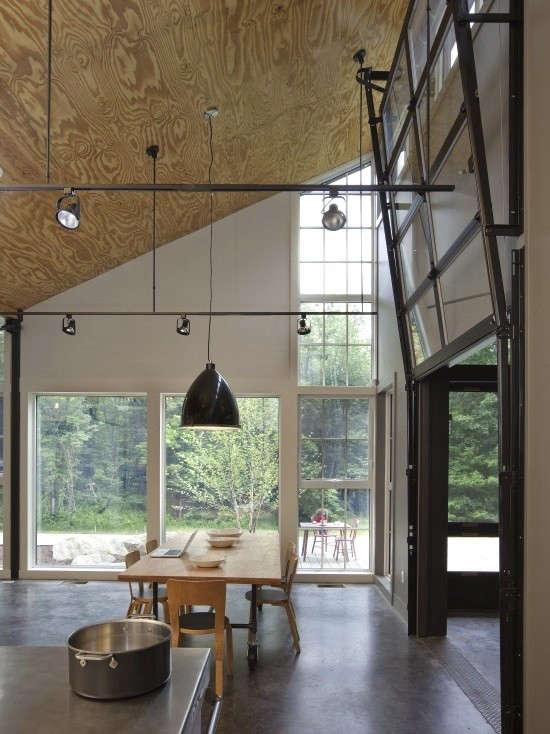 plywood-ceiling-concrete-floor