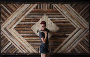 Ariele Alasko reclaimed wood wall