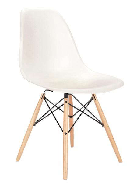 furniture eames side chair with wooden dowel legs remodelista. Black Bedroom Furniture Sets. Home Design Ideas
