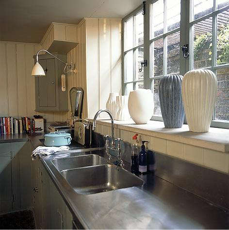 Elegant Kitchen Sconce Lighting. Above A Kitchen In Europe Photographed By Pierre  Jean Verger For A