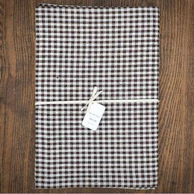 fog%20linen%20brown%20checked%20tablecloth