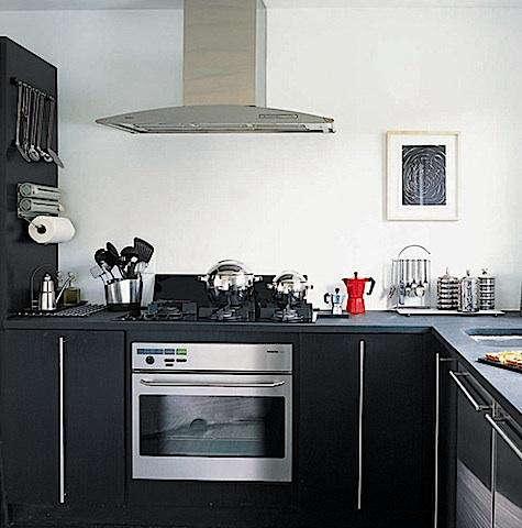Kitchen Black White Red Roundup Remodelista