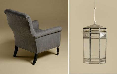 rose%20tarlow%20gray%20chair%20and%20silver%20lantern